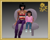 Twin Girl & Sofa