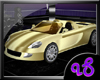 Golden Moving Sports Car
