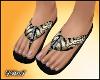 D- Tiger Print Sandals
