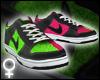 Pink/Green Dunks [F]