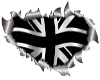 Torn Metal UK Flag 3