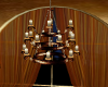 gold and bwn chandelier