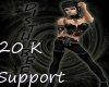 20 K Support Sticker