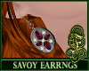 Savoy Earrings Burgundy
