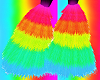 Rainbow Furry Boots