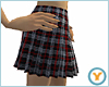 Blk Plaid Pleated Skirt