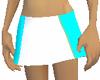 White Blue  Skirt