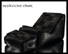 Blk leather lounge (rft)