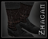 """[Z] """"Elric"""" Boot blk/red"""