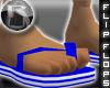 -R- Blu & Wht Sandals