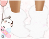 ♚ White Fluffy Boots