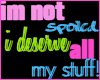 *H*  Not Spoiled!