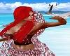 Ariel Mermaid Top Dk Red