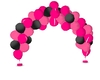 hot pink&black balloons