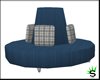 Blue Round Couch