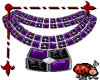 Bezel Necklace Purple