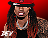 !D Dreads For Hats Red