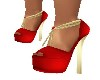 RED/GOLD HOLIDAY HEELS