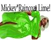 Mickey*Raincoat Lime*