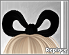 . hair bow | black