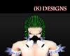 (K)Blk&White Toxic Mask