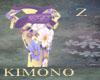 Kimono Yellow Purple