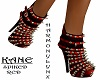 KANE SPIKED HEELS RED