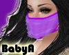! BA Purple Ruffle Mask