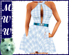 Blue Plaid Summer Dress