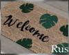 Rus Leaf Welcome Mat