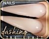 .Cst: Cream Nails.