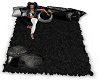 Black N Wite Cuddle Rug
