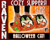 HALLOWEEN CAT SLIPPERS!