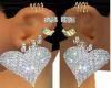 DiamondHeartEarringsSet