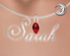 *DW1* Sarah Necklace Red