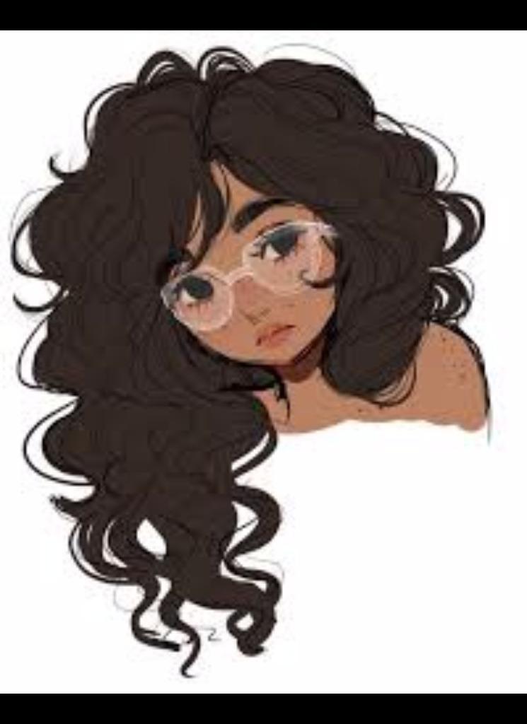 cartoon girl hair - 476×600